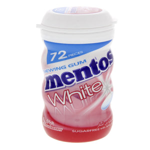 MENTOS WHITE 72PCS SUGARFREE STRAWBERRY