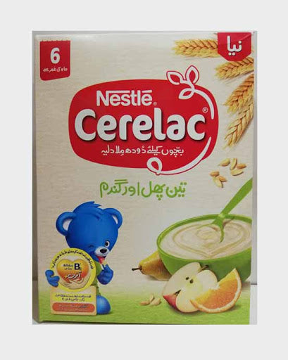 Nestle Cerelac 6 months 175g (3 Fruits + Wheat)