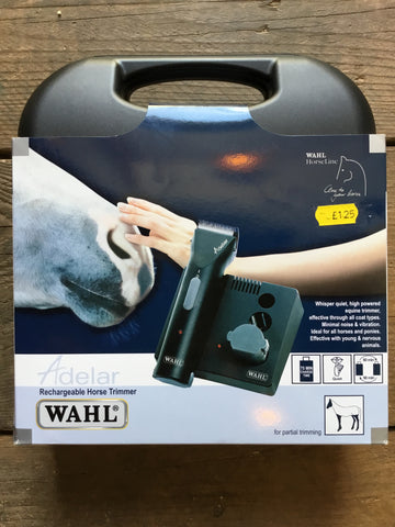 Wahl Adelar Rechargeable Horse Trimmers from AJ's Equestrian Boutique, Hertfordshire, England