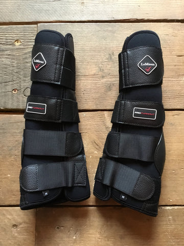 LeMieux ProTurnout Boots Black Medium from AJ's Equestrian Boutique, Hertfordshire, England