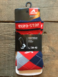 Euro-Star Unisex Checked Socks from AJ's Equestrian Boutique, Hertfordshire, England