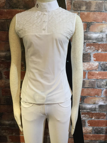 Cavalleria Toscana Perforated Stripe Shirt from AJ's Equestrian Boutique, Hertfordshire, England