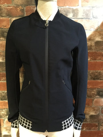 Cavalleria Toscana Bomber With Check Print Lining from AJ's Equestrian Boutique, Hertfordshire, England