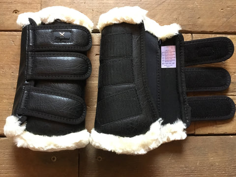 Kingsland Dolany Protection Boots Front from AJ's Equestrian Boutique, Hertfordshire, England