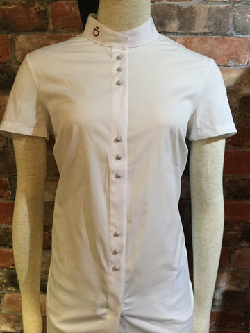 Cavalleria Toscana Snap Button Short Sleeve Shirt from AJ's Equestrian Boutique, Hertfordshire, England