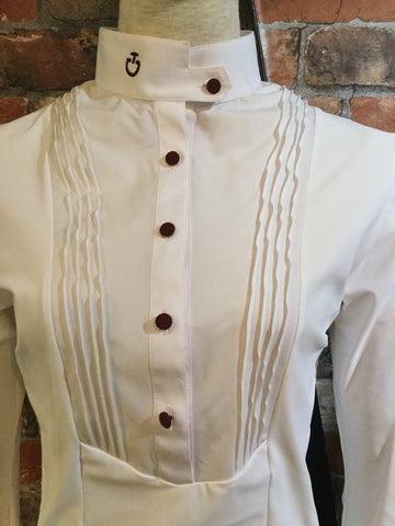 Cavalleria Toscana Techn Long Sleeve Shirt With Bib from AJ's Equestrian Boutique, Hertfordshire, England