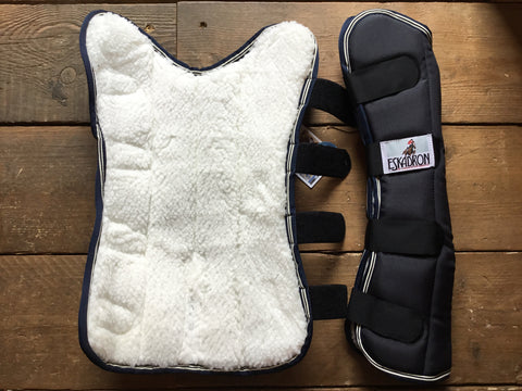 Eskadron Pro Traveller Fleece Lined Front Travel Boots from AJ's Equestrian Boutique, Hertfordshire, England