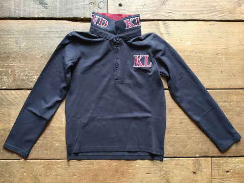 Kingsland Dufourspitze Junior Long Sleeve Polo Shirt from AJ's Equestrian Boutique, Hertfordshire, England