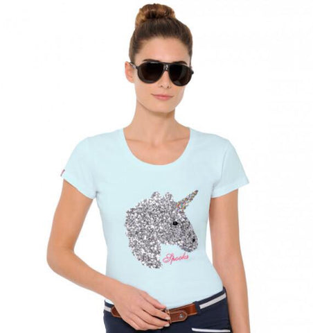 Spooks Unicorn Sequin Shirt from AJ's Equestrian Boutique, Hertfordshire, England