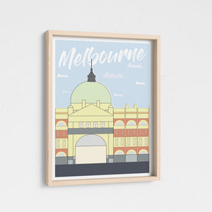Meet me on the steps - Flinders Street Melbourne Print