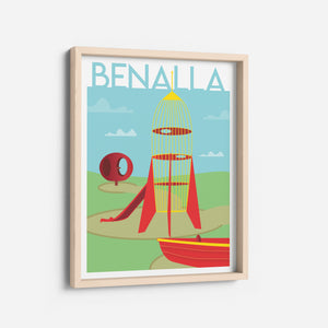 Benalla Rocket Park Homage to Home Print