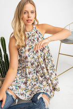 Floral Halter Tunic Top