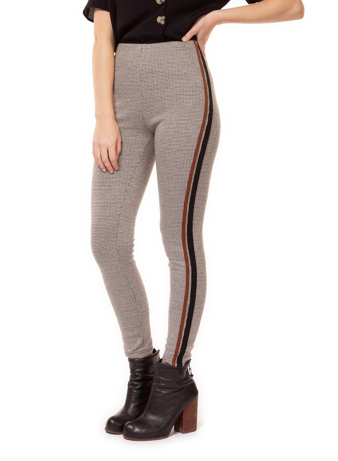 Herringbone Leggings With Side Tape
