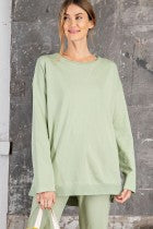 Long Sleeve Terry Knit Top