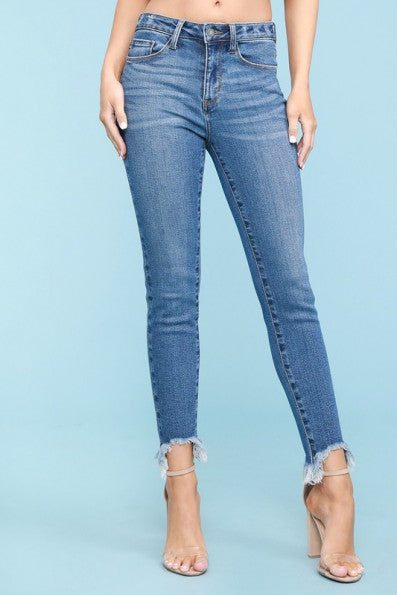 Judy Blue Shark Bite Skinny Jean