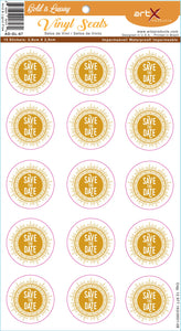 Sticker Adesivo Save the Date Casamento Gold is Luxury AD-GL-67