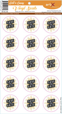 Sticker Adesivo Save the Date Casamento Gold is Luxury AD-GL-68