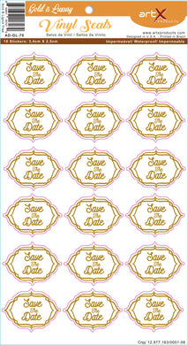 Sticker Adesivo Save the Date Casamento Gold is Luxury AD-GL-70