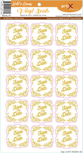 Sticker Adesivo Save the Date Casamento Gold is Luxury AD-GL-72