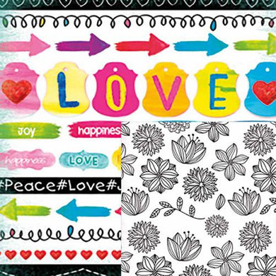 Papel Scrap Book Love Dupla Face c/10 folhas BRBA-8250