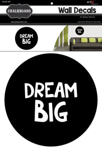 Sticker Artesanato Lousa Chalkboard Dream Big AD-1407