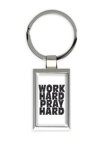 Chaveiro Work Hard Pray Hard CG-KM-1290