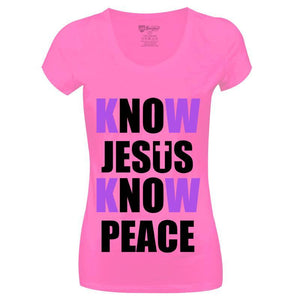 Camiseta Know Jesus Know Peace-CG-LL-0045-RS (Long-Look)