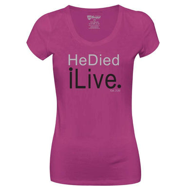 Camiseta He died I live-CG-LL-0062-RX (Long-Look)