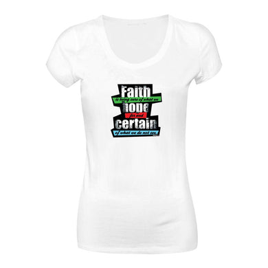 Camiseta Faith is being sure of what we hope for and of what we do not see   CG-LL-1573-BR (Long Look)