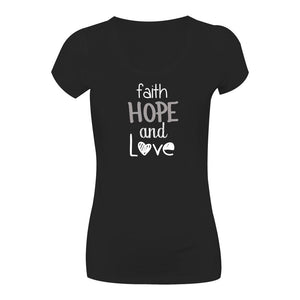 Camiseta Faith Hope Love CG-LL-1577-PR Long Looks