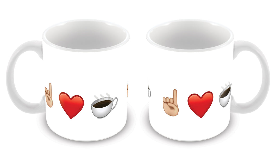 Caneca Emoji I Love Coffee CG-MG-1122