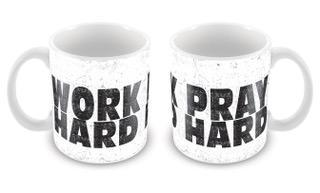 Caneca Work Hard Pray Hard  CG-MG-1290