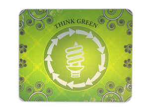 Mouse Pad Metalizado Think Green AX-MP-00001B