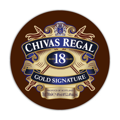 Placa MDF Chivas Regal MD26-RP-3017