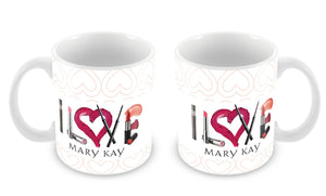 Caneca I Love Mary Kay Lipsticks MG-0243