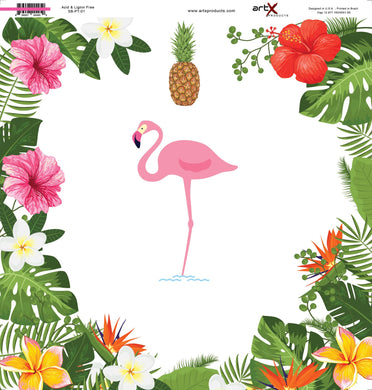Papel Scrap Book All The Tribes Flamingo SB-AT-04