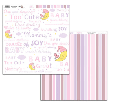 Papel Scrap Book Bebe Baby Girl Dupla Face SB-BG-08