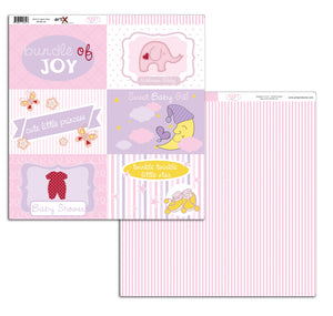 Papel Scrap Book Bebe Baby Girl Dupla Face SB-BG-09