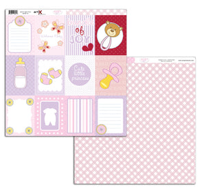Papel Scrap Book Bebe Baby Girl Dupla Face SB-BG-10