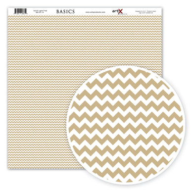 Papel Scrap Book Chevron Kraft SB-C01-18