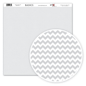 Papel Scrap Book Chevron Cinza SB-C01-20