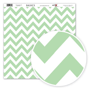 Papel Scrap Book Chevron Verde Água SB-C02-04