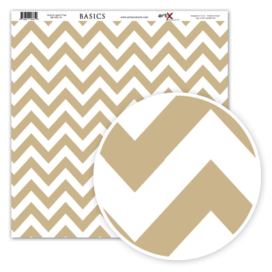 Papel Scrap Book Chevron Kraft SB-C02-18