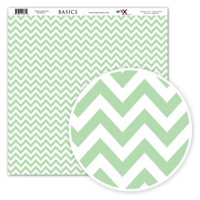 Papel Scrap Book Chevron Verde Água SB-C03-04