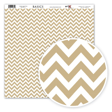 Papel Scrap Book Chevron Kraft SB-C03-18