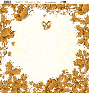 Papel Scrap Book Casamento Forever & Ever SB-FE-02