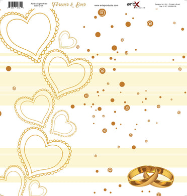 Papel Scrap Book Casamento Forever & Ever SB-FE-03