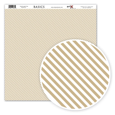 Papel Scrap Book Chevron Kraft SB-L00-18