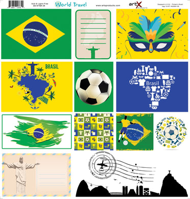 Papel Scrap Book Travel Brasil SB-WTBR-06