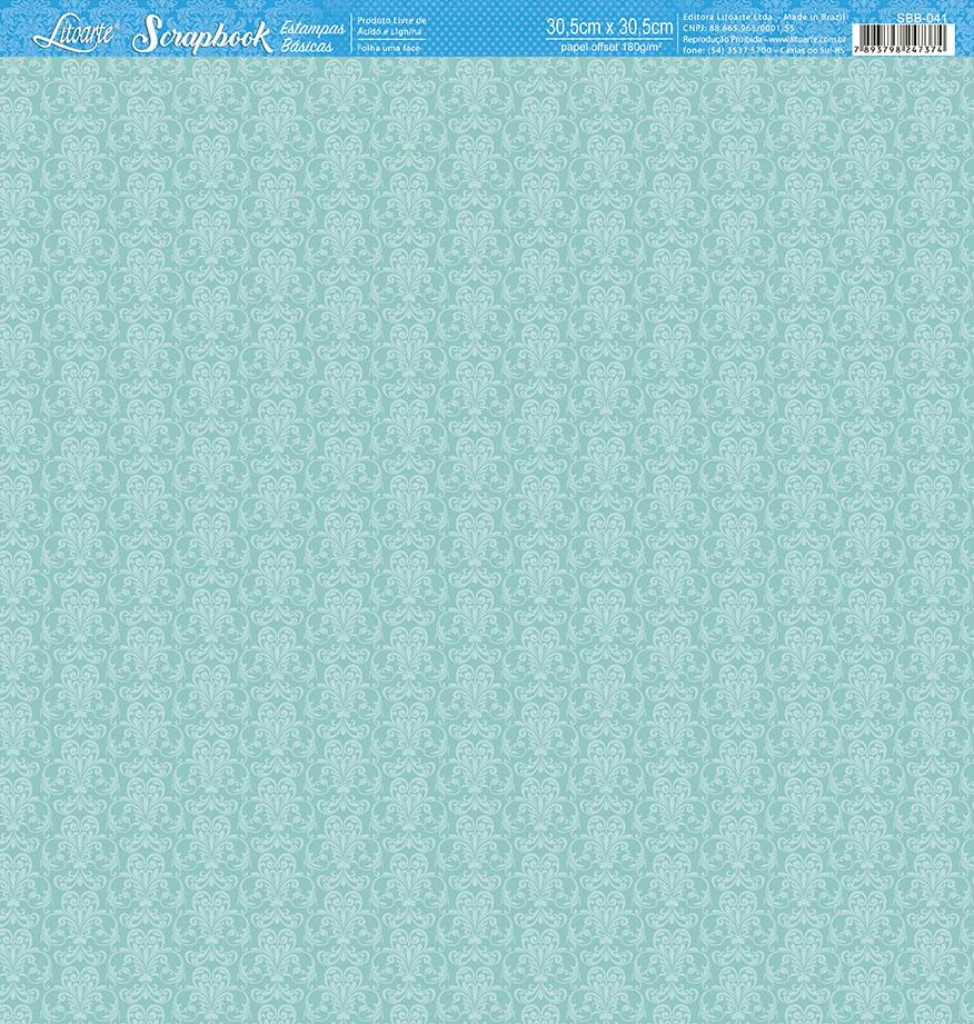 Papel Scrap Book Tiffany's Litoarte lto-sbb-041